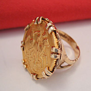 Antique FULL 22k Gold Sovereign Ring
