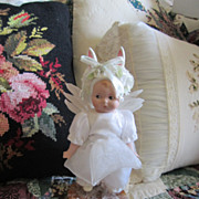 Vintage Marie Osmond Angel Bunny Bisque Doll All Original