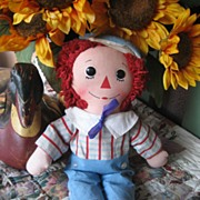 REDUCED Vintage 1960's  15 inch Knickerbocker Raggedy Andy ADORABLE!