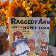 REDUCED 1944 Raggedy Ann , Johnny Gruelle Book , Excellent Condition ! SWEET