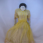 Antique German  9 Inch China Head Doll Original Clothes