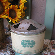 "REDUCED Vintage 1940's ""Sunny Suzy"" Tin Toy Washing Machine TOO SWEET!"