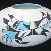 REDUCED Handpainted, Handmade Large Hopi Indian Thunderbird Pot