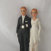 REDUCED Vintage Bisque Bride and Groom Circa 1930-40's