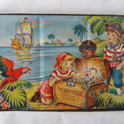 REDUCED Vintage Circa 1950 English Made Children's Tin Water Color Set
