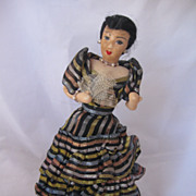 REDUCED Vintage Ethnic Felt Doll All Original