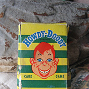 REDUCED Rare Vintage Howdy Doody Card Game Circa 1960's