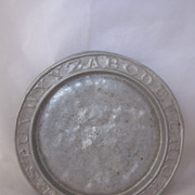 Antique Tin ABC Plate