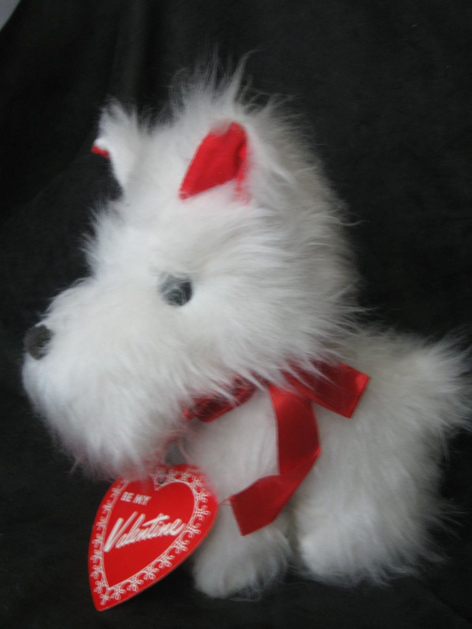 Vintage Valentine Westie Dog All Original ! Just Darling!