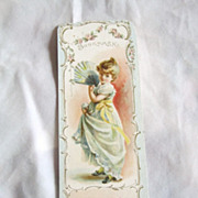 Antique Advertisement Bookmark For Cambridge Mutual Fire Insurance Co.