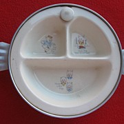 "REDUCED Vintage Excello ""Three Little Pigs"" Baby Dish"