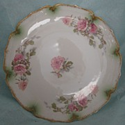 REDUCED Vintage Haviland Limoges Pink Rose Plate Gorgeous !