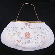 REDUCED Vintage Gorgeous 3 Piece Belgium Handmade Beaded Evening Bag / Purse