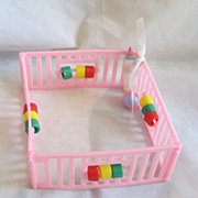 Vintage Circa 1960's Doll Playpen Too Cute!