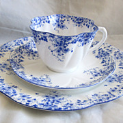 Vintage 3 Piece Shelley Tea Cup and Lunch Plate and Saucer Excellent Condition