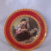 "REDUCED Vintage 8 1/2 inch Spanish ""Guillen"" Porcelain Portrait Plate"