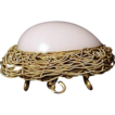 Opaline Glass Egg Casket