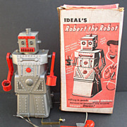 "Robot 1955 ""Robert the Robot"" Ideal Toys Working with Box"