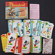 Disneyland 1955 Donald Duck Boxed Card Game Nice!