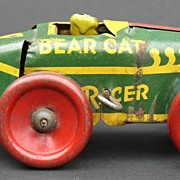 "1920's Tin Wind-up ""Bear Cat"" Racer Car"