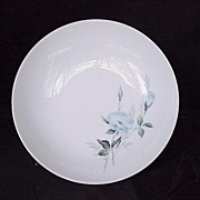 Noritake Sylvia #6603 Coupe Soup Bowl - Blue Roses