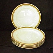 SALE 5 Aynsley Greek Key Dessert Plates