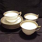 Aynsley Greek Key - 8 Pieces Cups/Saucers