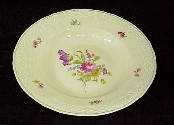 Winterling Dresden Floral Flat Rimmed Soup Bowls (Bavaria) - 10 Available