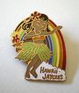 Vintage Hula Girl Pin Hawaiian Jaycees