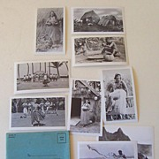 9 Black & White Photographs 1930's Hawaii Hula Girls +