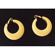 SALE Pair Vintage 1930's Bakelite Chunky Hoop Earrings