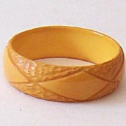 SALE SALE! Outstanding 1930's Deeply Carved Bakelite Bracelet