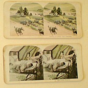 9  Stereoview Cards Including 3 War