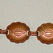 Vintage Copper Link Bracelet Indian Motif