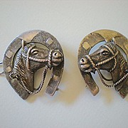 SALE Vintage Western 2 Piece Bridle Decoration