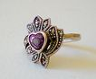 Vintage Marcasite & Sterling Ring & Pin