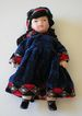 Vintage Bisque Doll In Velvet Outfit Very Pretty!