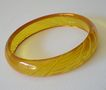 Gorgeous Reverse Carved Applejuice BAKELITE Bracelet