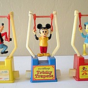 SALE (3) Different Vintage Disney Character Trapeze Toys