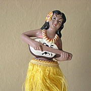 SALE Vintage 1950's Hawaiian Hula Girl Nodder Bobber