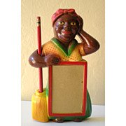 SALE Gorgeous Black Mammy Chalk Note Pad Holder