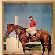 10X13 Color Print Race Horse Citation & Jockey Arcaro Up