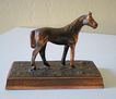 Old Metal Horse Sculpture Figurine