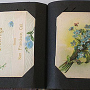 SALE Antique Post Card Album w/ 68 Cards Holidays etc.