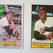 2 Willie McCovey SF Giants Baseball Cards 1961 & 1969 NM