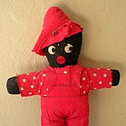 Vintage Black Americana Cloth BOY Doll