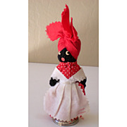 SALE Vintage Black Mammy Souvenir Doll and Bell