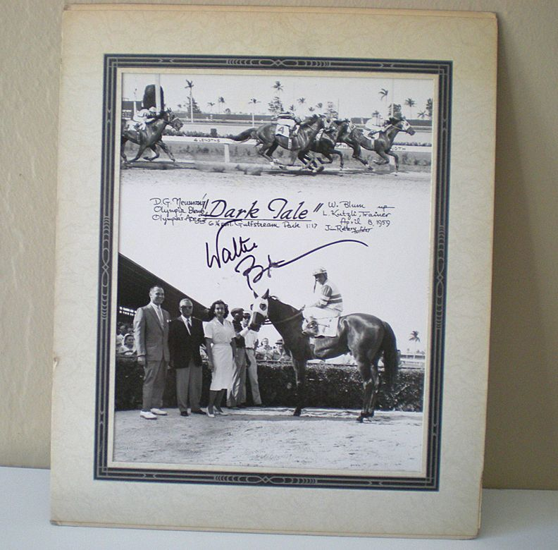 Original 1959 Race Track Photograph Signed By Jockey