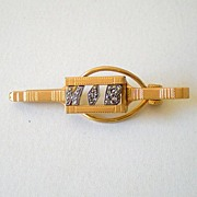 Vintage Initials WB Tie Bar Gold Plated Signed Swank