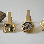 Group of (4) Nice Vintage Tie Clips